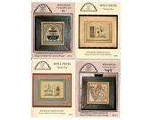 4 Bits & Pieces Cross Stitch Small Leaflets, Folk Art Cross Stitch, Noah's Ark Cross Stitch, Country Cross Stitch, by NewYorkTreasures Etsy