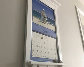 Calendar Frame family organizer storage shelf and keyhook Furniture Front Loading Slide Calendar Frame for LANG calendar.