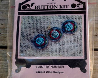 Plum Fun Button Kit Paint-By-Number