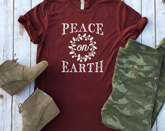 Holiday Christmas Tees - Peace on Earth