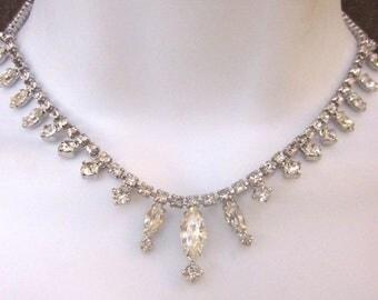 SALE Kramer Vintage Rhinestone Necklace Bridal Jewelry
