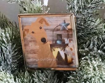 Greyhound Rustic Barnboard Christmas Ornament, greyhound christmas ornament, greyhound christmas, custom greyhound ornament, greyhound gifts