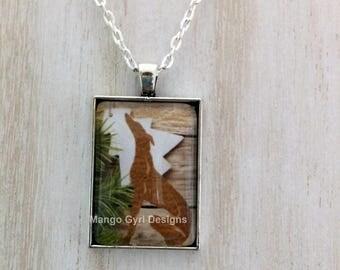 Greyhound Rustic Christmas Necklace, greyhound jewelry, greyhound christmas, greyhound barnboard, greyhound gift, greyhound holiday necklace