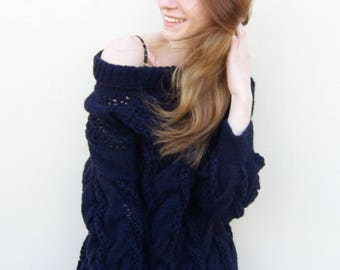 Knitted sweater, stilish, unique, lovely
