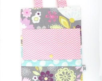 Crayon Bag - Pastel Flower -Girls floral Road Trip Bag coloring book bag  travel organizer twistable crayon bag art bag