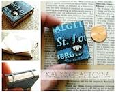 tiny coptic bound book - blue dachshund