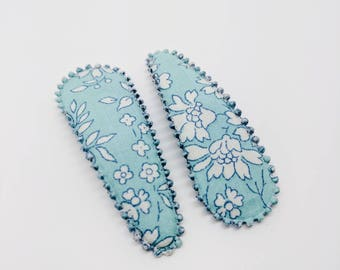 Liberty HAIRCLIPS - CAPEL T (turquoise) - Josie Joan's crafted hairclips set of two (2) clips