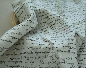 Special Sale, Letters on Linen blended, U361