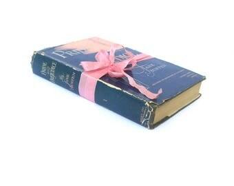 Pride and Prejudice by Jane Austen 1945 RARE HB DJ Edition Books, Inc. Publishers, Jane Austen Book, Jane Austen Wedding, Janeite, Austenite