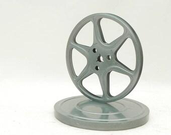 "Vintage 8mm Metal Movie Film Reel w/Box Canister 7""W"