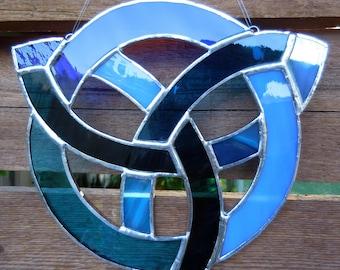 Stained Glass Celtic Knot-Handmade-Suncatcher-Wedding Gift-Anniversary-Window Decor-House Warming-Christmas-Unique Gift-Birthday