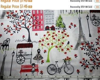Springtime in Paris Fabric--Eiffel Tower Fabrics--HARD Find-- 40-70% off Patterns Books n Fleece