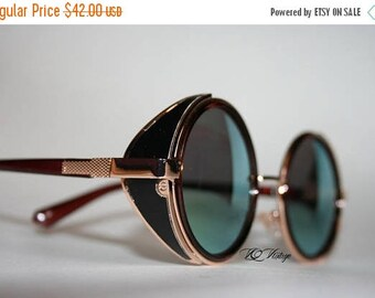 Retro Style Rockerchic Steampunk Sunglasses