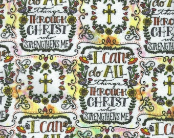 """RELIGIOUS FLANNEL -100% Cotton Flannel Fabric - 1 yard x 44"""" wide"""