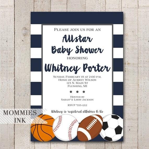Allstar baby shower invitation sports baby shower invite all star il570xn filmwisefo
