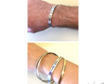 "Beyond The Label, Lower case letters, Hand Stamped 1/4"" Cuff Bracelet, Autism jewelry, Holiday gift, Autism Awareness bracelet, unisex"