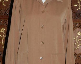 ON SALE 1960s 'Saint Laurent Rive Gauche ' Golden Brown Jacket