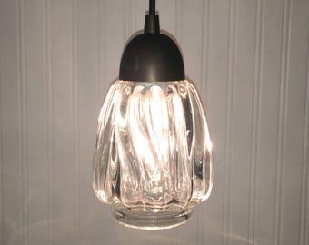 Vintage Cut Glass PENDANT Light - Beautiful & Elegant Chandelier Lighting Fixture Flush Mount Kitchen Island Elegant by LampGoods
