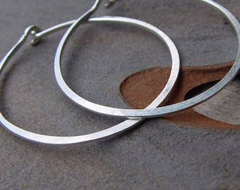 Custom Order For Sybille - 2 Pairs Of Sterling Silver Hoops
