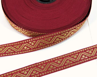 Vintage Gold Trim / Red Green Gold Trim / Christmas Trim