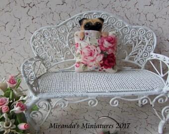 ooak-Dollhouse-miniature-Peek-A-Boo-PUG-Rose-pillow-cottage-chic
