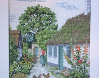 Eva Rosenstand Hollyhock Cottage Garden 94-355 Clara Waever Cross Stitch Kit