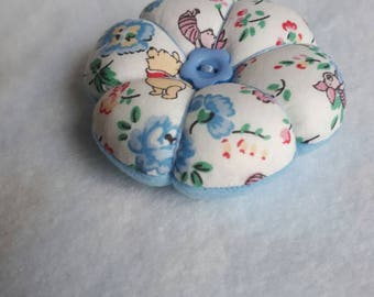 Handmade mini Pin Cushion made from Disney x Cath Kidston Winnie the Pooh Piglet  fabric