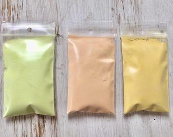 Yellow Enamel Collection, Thompson Enamel, Yellow Enamel, Yellow Powder Glass, Painting with Fire Studio, DIY Enameling, Learn to Enamel