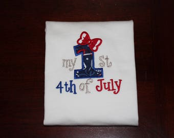 Girl baby my 1st 4th of July shirt, onesie First Fourth of July 1st 4th of July  Independence Day