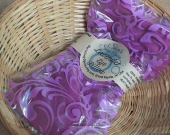 Lavender Flax Eye Pillow-helps relieve tension,eye strain,headaches-Use HOT or COLD-Machine Washable