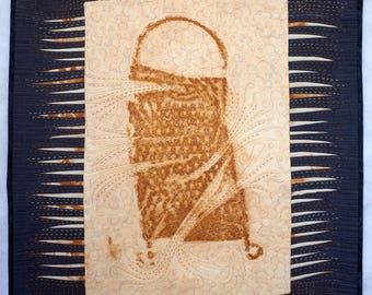 Art quilt, wall hanging, wall decor- Grater from Luksiai Village