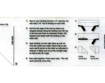 """The Binding Tool Template Ruler 2.5"""" x 8.5"""" by TQM TQM001"""