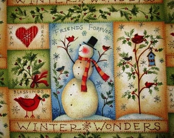 "Winter Wonder Panel Fabric 34 x 23"""
