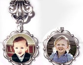 RESERVED FOR MEGHAN - Double Sided Photo Charm Tibetan Silver Metal 4.5mm Hole Buy 3 Get the 4th Free - Free Shipping