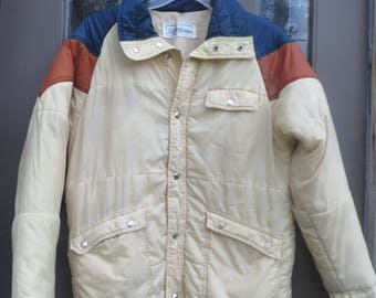Vintage 70/  80s nylon puffer ski jacket   by current seens
