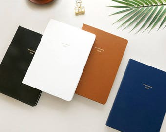 2018 Medium Monthly + Weekly planner + stickers in 4 colors (Dated)