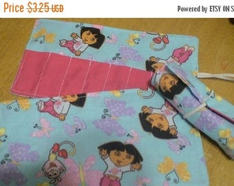 Christmas IN JULY SALE Crayon Roll Cozy Holder Dora Other Styles Available