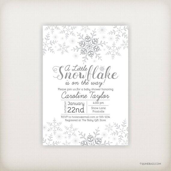 Little snowflake baby shower invitation snowflake baby shower il570xn filmwisefo