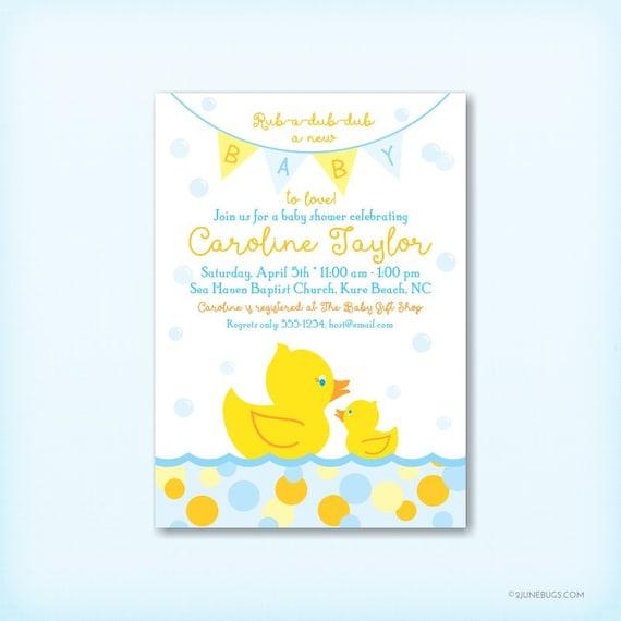 Rubber duck baby shower invitation baby boy shower rubber ducky il570xn filmwisefo
