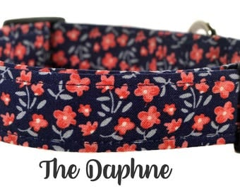 "Multicolored Floral Dog Collar ""The Daphne"""