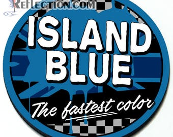 Island Blue - Magnetic Grill Badge for MINI Cooper