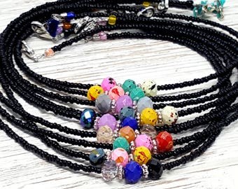 Black Beaded Choker - Dainty Beaded Choker - Gift from Mom Dad - Cool Best Friend Gift for Her - Boho Necklace - Bohemian Choker for Her