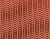 Orange Black Halloween Fabric - Haunted Gala Pumpkin by The Comstocks - Moda 37114 14 - 1 One Yard Cut BTY - Halloween Fabric