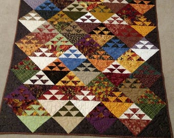 Flying Geese Autumn Quilt