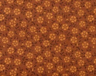 ON SALE Little Flower in Rust 100% Cotton Quilt Fabric Blender for Sale, Marshall Dry Goods, Yardage, Brown