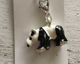 SALE Panda Bear Charm with Lobster Claw Clasp
