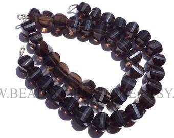 Gemstone Beads, Smoky Quartz Faceted Carambola (Quality A+) / 8.50 to 9.50 mm / 18 cm / SM-103