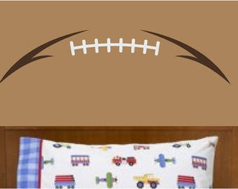 Football Laces Wall Decal, Football Stitches, Two Color and One Color Option
