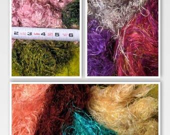 Art Fiber FABULOUSNESS! Recycled Sari Silk Fiber for Art Yarn Carding Felting & Spinning