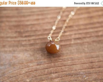 Summer Solstice Sale Faceted Citrine Teardrop on 14k Gold Filled Chain Stacking Necklace Quartz Jewelry Natural Gemstone Necklace November B
